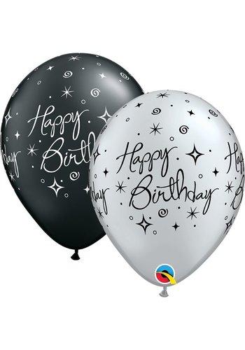 Heliumballon Happy Birthday Elegant - 2 kleuren (28cm)
