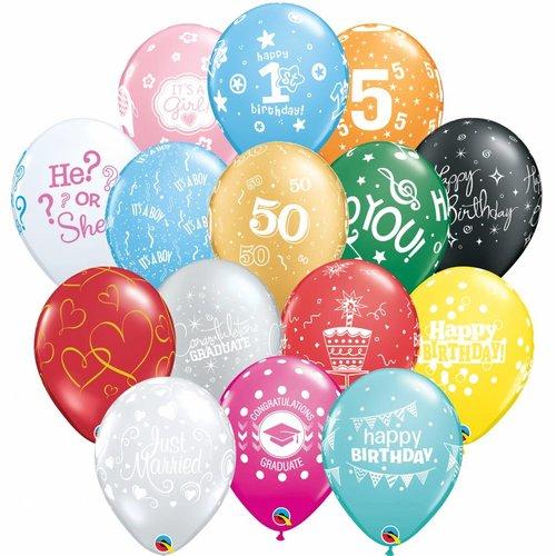 Bedrukte helium ballonnen