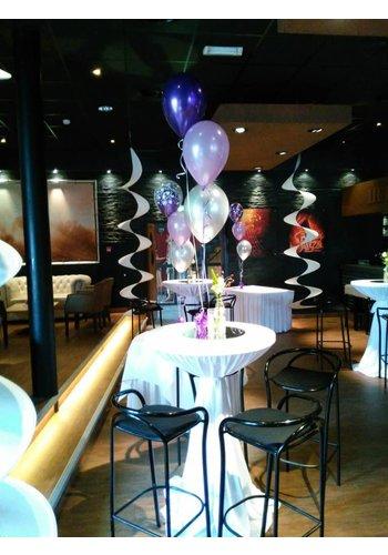 Zelf Samenstellen - Tafeldecoratie van 3 Heliumballonnen