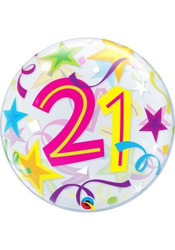 Bubble Ballon Gekleurd 21 - 55cm