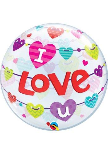 Bubble Banner Hearts - 55cm