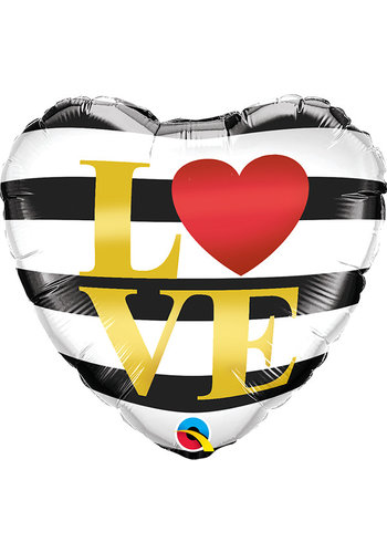 Folieballon LOVE Stripes - 45cm