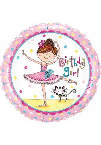 Folieballon Birthday Girl Ballerina - 45cm