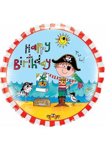 Folieballon Birthday Pirate - 45cm
