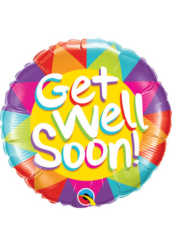 Folieballon Get Well Soon - 45cm