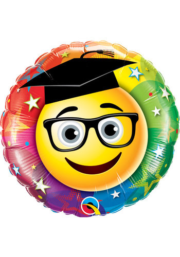 Folieballon Graduate Smiley - 45cm