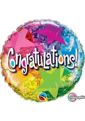 Folieballon Congratulations stars - 45cm