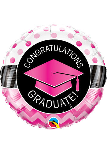 Folieballon Graduate Pink - 45cm