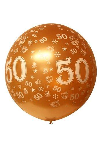 Mega Ballon - 50 goud - 90cm