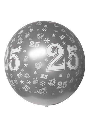 Mega Ballon - 25 Zilver - 90cm