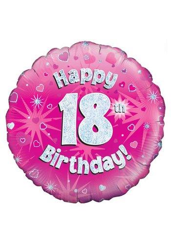 Folieballon - Happy 18 Birthday - 45cm