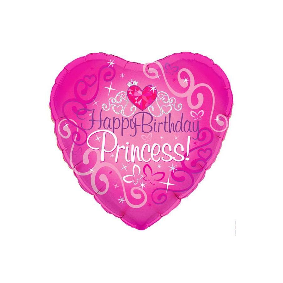 Folieballon - Happy Birthday Prinses-1
