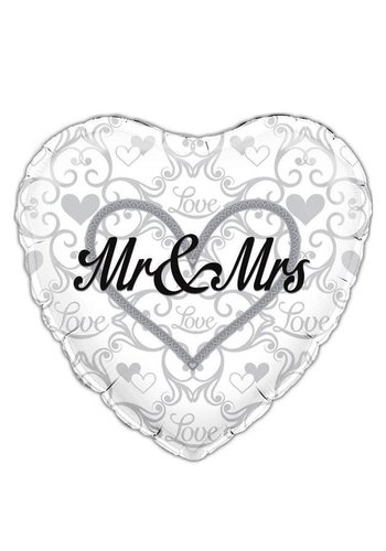 Folieballon - Mr & Mrs - 45cm