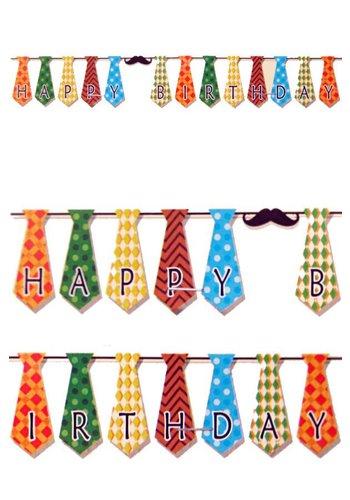 Guirlande stropdasjes Happy Birthday