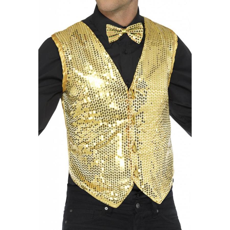 Glitter Gillet - Goud-1