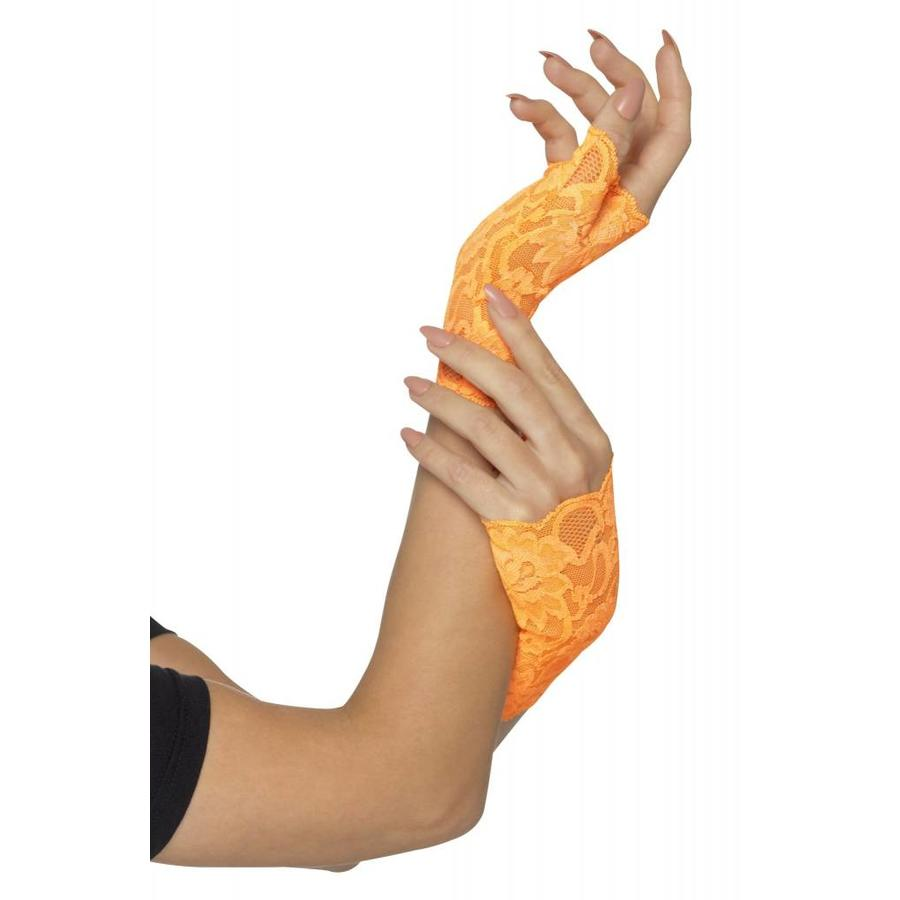 80's Fingerless Lace Gloves - 3 kleuren-1