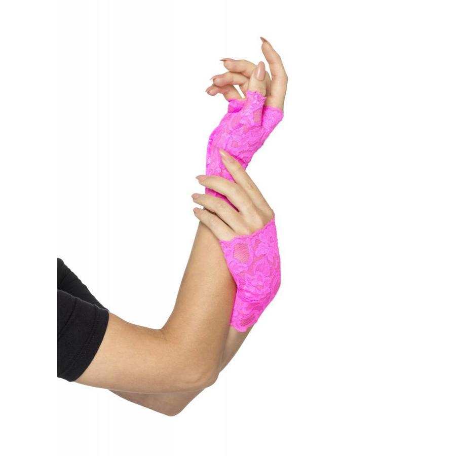 80's Fingerless Lace Gloves - 3 kleuren-2