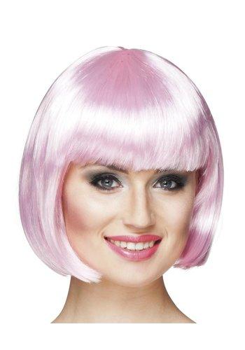Pruik Cabaret - Licht Roze