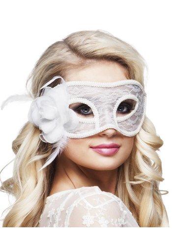 Oogmasker Mystique - Wit