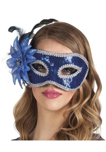 Oogmasker Venice Fiore - Blauw