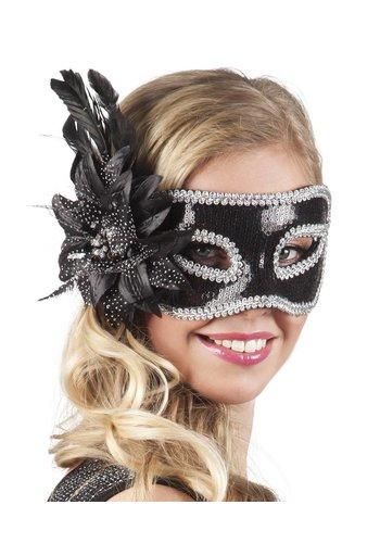 Oogmasker Venice Fiore - Zwart