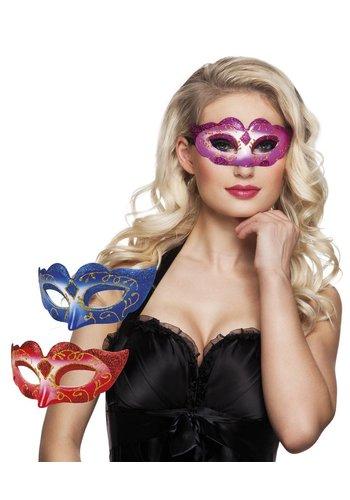 Oogmasker Venice Glitter - 3 kleuren