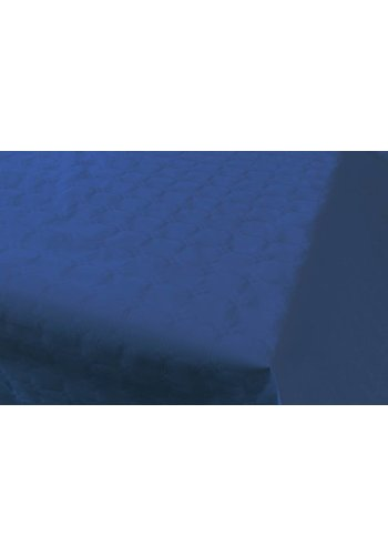 Damast Tafelkleed Donker Blauw 8x118cm