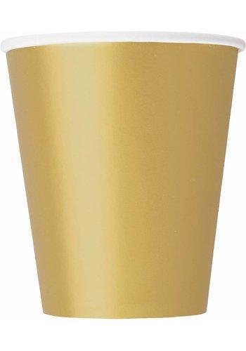 Bekertjes Goud 250ml - 14 stuks