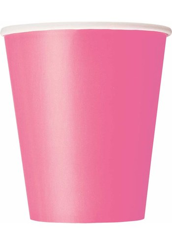 Bekertjes Hot Pink 250ml - 8 stuks