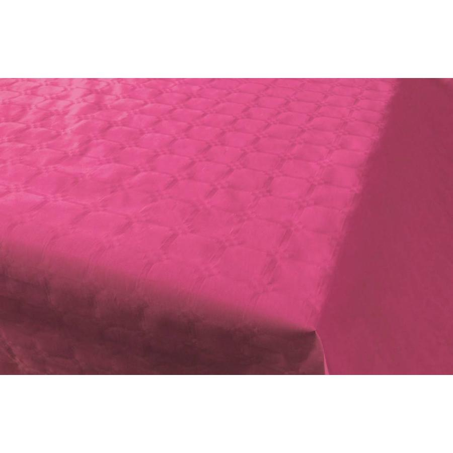 Damast Tafelkleed Hot Pink 8x118cm-1