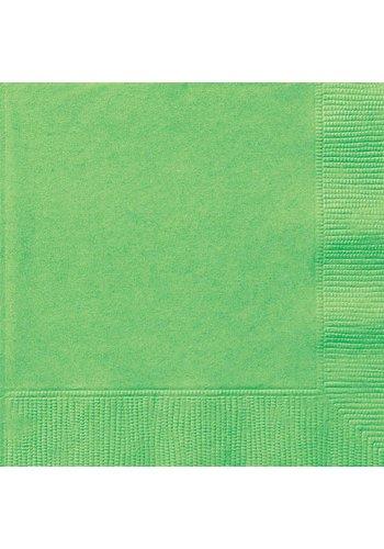 Servetten Lime Groen 33x33cm - 20 stuks