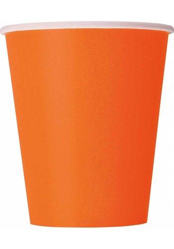 Bekertjes Oranje 250ml - 8 stuks