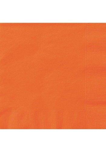 Servetten Oranje 33x33cm - 20 stuks