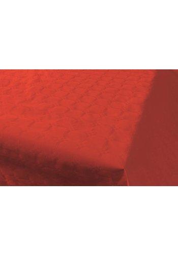 Damast Tafelkleed Rood 8x118cm