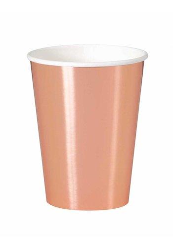 Bekertjes Rosé Gold 250ml - 8 stuks