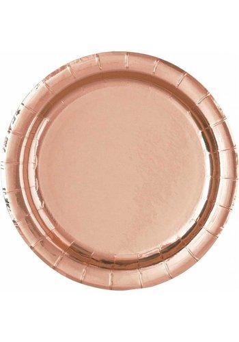 Bordjes Rosé Gold 23cm - 8 stuks