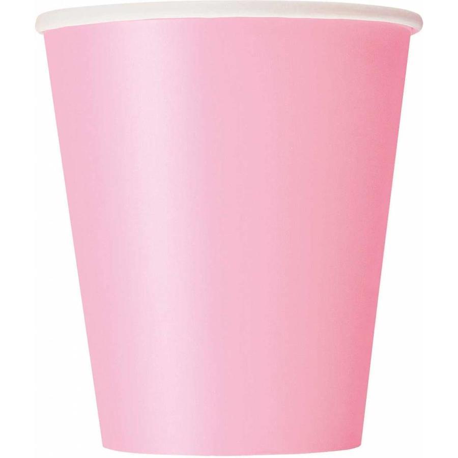 Bekertjes Roze 250ml - 8 stuks-1