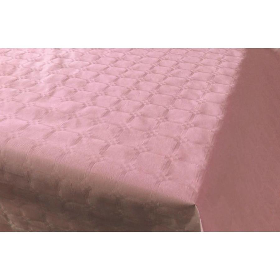 Damast Tafelkleed Roze 8x118cm-1