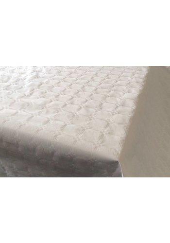 Damast Tafelkleed Wit 8x118cm
