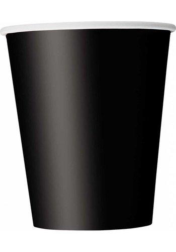Bekertjes Zwart 250ml - 8 stuks