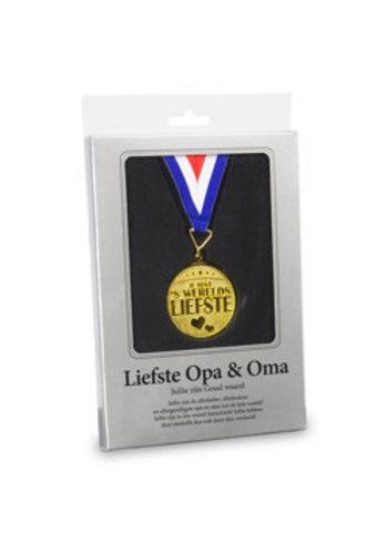 Gouden Medaille - Liefste Opa en Oma
