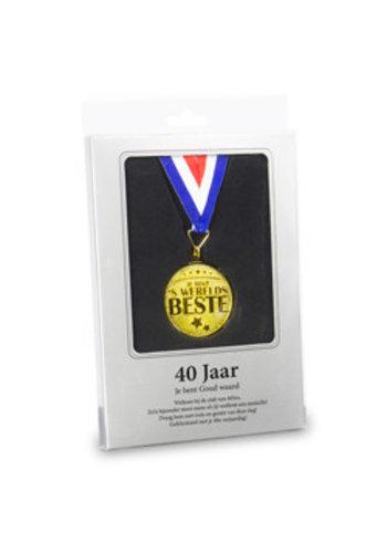 Gouden Medaille - 40 Jaar