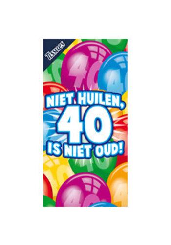 Tissuebox - Niet huilen, 40 is niet oud