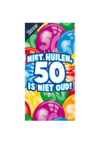 Tissuebox - Niet huilen, 50 is niet oud