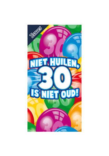 Tissuebox - Niet huilen, 30 is niet oud!
