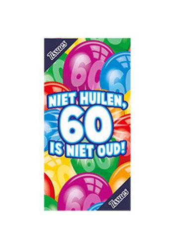 Tissuebox - Niet huilen, 60 is niet oud