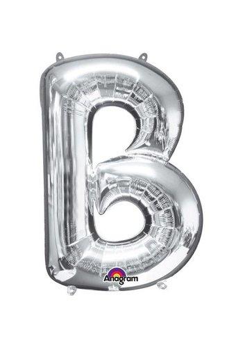 Folieballon B Zilver - 58x86cm