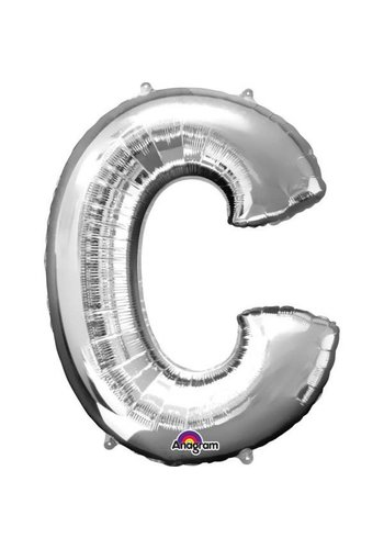 Folieballon C Zilver - 63x81cm