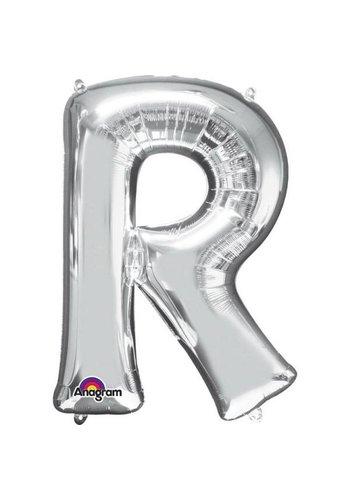 Folieballon R Zilver - 58x81cm