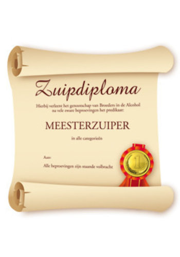 Big Sign - Zuipdiploma